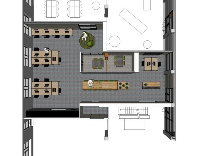 ROC van Amsterdam Tempelhofstraat teamkamer NT interieurontwerp projectinrichting studio skez-001